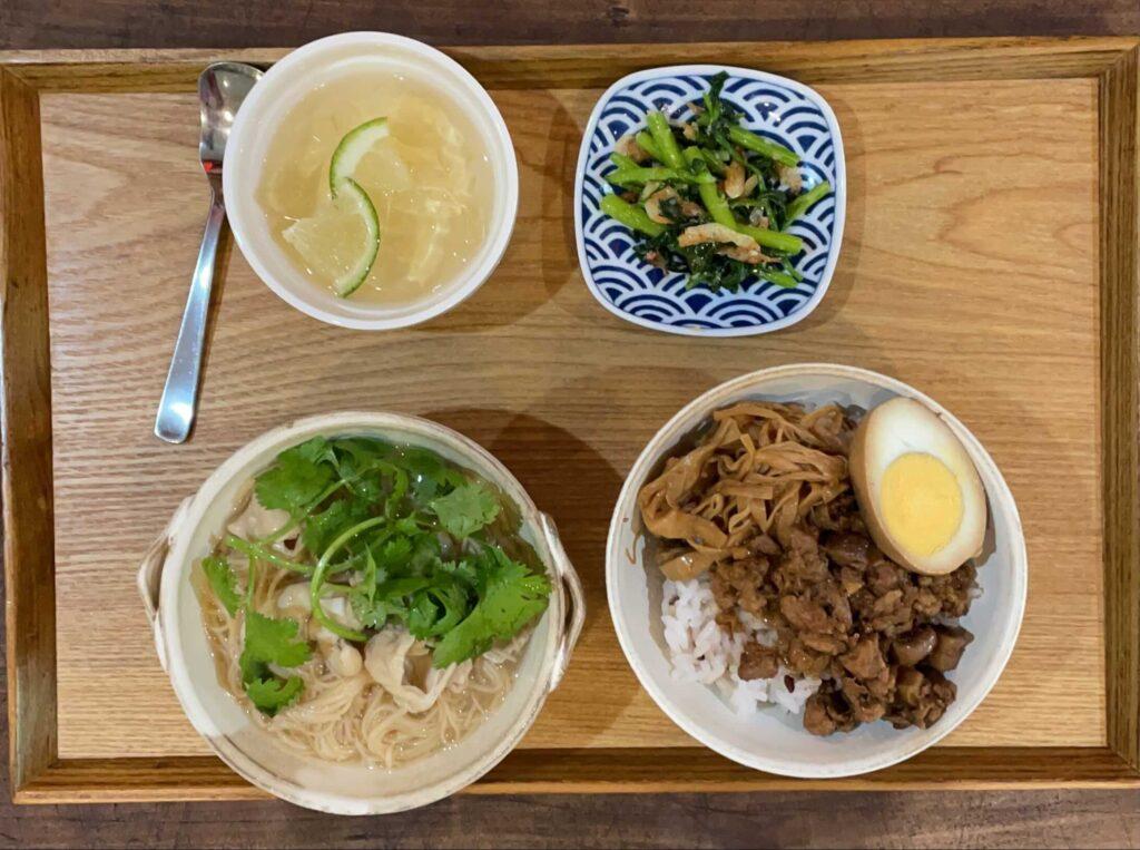 台湾麺線&肉燥飯ランチ